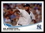 2013 Topps #359  CC Sabathia  Front Thumbnail