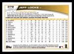 2013 Topps #372  Jeff Locke  Back Thumbnail