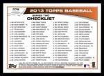 2013 Topps #376  Juan Pierre  Back Thumbnail
