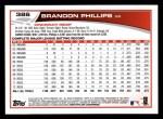 2013 Topps #386  Brandon Phillips  Back Thumbnail