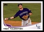 2013 Topps #453  Troy Tulowitzki  Front Thumbnail