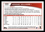 2013 Topps #466  Jerome Williams  Back Thumbnail