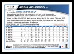 2013 Topps #473  Josh Johnson  Back Thumbnail