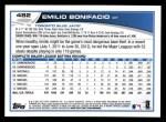 2013 Topps #482  Emilio Bonifacio  Back Thumbnail