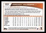 2013 Topps #483  Jordany Valdespin  Back Thumbnail