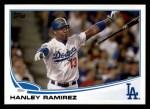 2013 Topps #487  Hanley Ramirez  Front Thumbnail