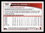 2013 Topps #498  Martin Prado  Back Thumbnail
