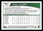 2013 Topps #501  Tommy Milone  Back Thumbnail