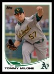 2013 Topps #501  Tommy Milone  Front Thumbnail