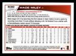 2013 Topps #530  Wade Miley  Back Thumbnail