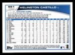 2013 Topps #551  Welington Castillo  Back Thumbnail