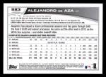 2013 Topps #583  Alejandro De Aza  Back Thumbnail