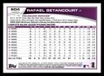 2013 Topps #604  Rafael Betancourt  Back Thumbnail