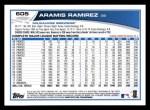 2013 Topps #605  Aramis Ramirez  Back Thumbnail