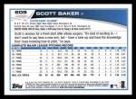 2013 Topps #609  Scott Baker  Back Thumbnail