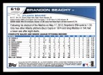 2013 Topps #610  Brandon Beachy  Back Thumbnail