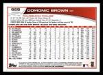 2013 Topps #625  Domonic Brown  Back Thumbnail
