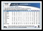2013 Topps #642  Austin Jackson  Back Thumbnail