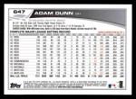 2013 Topps #647  Adam Dunn  Back Thumbnail