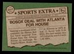 1976 Topps Traded #231 T Tom House  Back Thumbnail