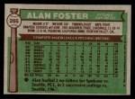 1976 Topps #266  Alan Foster  Back Thumbnail