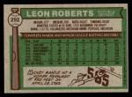 1976 Topps #292  Leon Roberts  Back Thumbnail