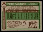 1976 Topps #524  Pete Falcone  Back Thumbnail