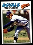 1977 Topps #534  Paul Splittorff  Front Thumbnail