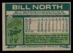 1977 Topps #551  Bill North  Back Thumbnail