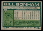 1977 Topps #446  Bill Bonham  Back Thumbnail