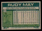 1977 Topps #56  Rudy May  Back Thumbnail