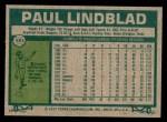 1977 Topps #583  Paul Lindblad  Back Thumbnail