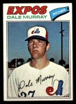 1977 Topps #252  Dale Murray  Front Thumbnail