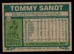 1977 Topps #616  Tommy Sandt  Back Thumbnail