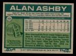 1977 Topps #564  Alan Ashby  Back Thumbnail