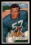 1951 Bowman #135  Jack Lininger  Front Thumbnail