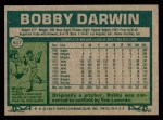 1977 Topps #617  Bobby Darwin  Back Thumbnail