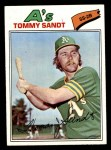 1977 Topps #616  Tommy Sandt  Front Thumbnail