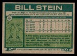 1977 Topps #334  Bill Stein  Back Thumbnail