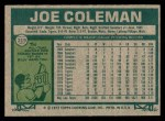1977 Topps #219  Joe Coleman  Back Thumbnail