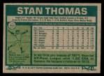 1977 Topps #353  Stan Thomas  Back Thumbnail