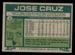 1977 Topps #42  Jose Cruz  Back Thumbnail