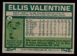 1977 Topps #52  Ellis Valentine  Back Thumbnail