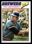 1977 Topps #406  Tim Johnson  Front Thumbnail