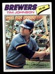 1977 Topps #406  Tim Johnson  Front Thumbnail