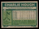 1977 Topps #298  Charlie Hough  Back Thumbnail