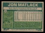 1977 Topps #440  Jon Matlack  Back Thumbnail