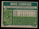 1977 Topps #149  Mike Cubbage  Back Thumbnail