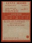 1965 Philadelphia #8  Lenny Moore   Back Thumbnail