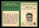 1966 Philadelphia #149  Dick Hoak  Back Thumbnail